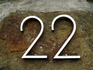 number 22 made of steel