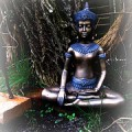 statute of meditating person