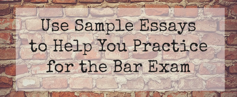 bar essay help Pass the california bar exam more than 100 bar exam practice essays insider tips on understanding and using irac performance tracking technology.
