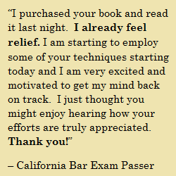 Bar Exam Mindset Book
