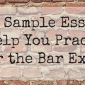 sample bar exam essays